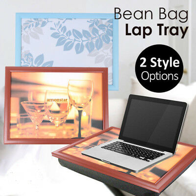 Bean Bag Cushion Lap Tray Laptop Dinner Padded Cushioned Desk Table