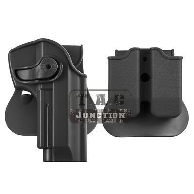 TACTICAL RETENTION ROTATE Pistol Holster for Beretta 92 96 M9 w/ Magazine  Pouch