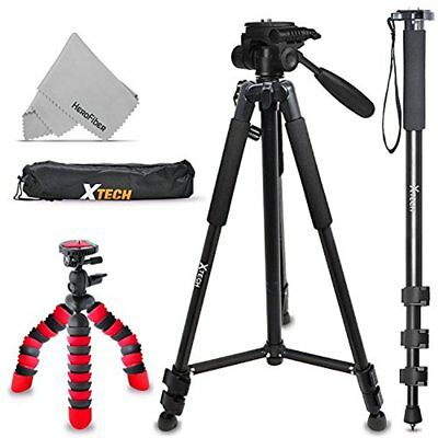 "Xtech Triple Tripod Kit with 72"" Inch Tripod + 72"" Monopod + 12"" Flexible Tripod"