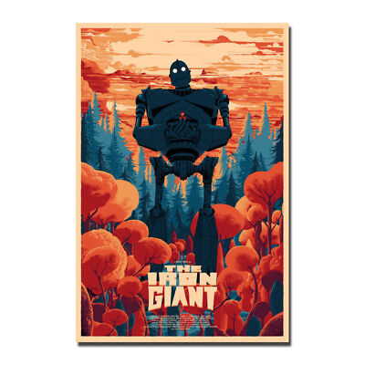 THE IRON GIANT Movie Vintage Silk Poster Canvas Art Print 12x18 24x36 inches