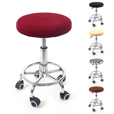 1PCS Bar Stool Covers Round Swivel Chair Seat Cover Cushions Sleeve Protector