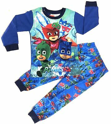 NEW Size 2-7 PYJAMAS PJ MASKS PJS BOYS WINTER SLEEPWEAR KIDS T-SHIRTS TOP TEES