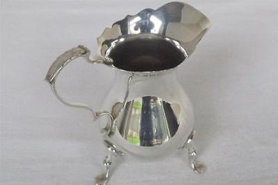 A Stunning Solid Sterling Silver Georgian Style Cream Jug Of Helmet Form 1932.
