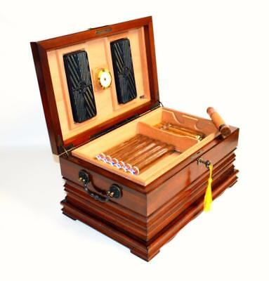 Royal Tradition Golden Cherry Finish 125 Cigar Humidor -  Ships Free