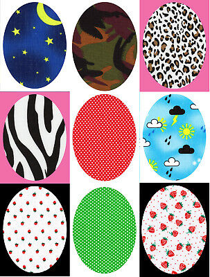 Oval Shape Iron/Sew on Knee/Elbow/Applique Patch Crafts/Jeans/Cards Poly Cotton