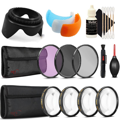 58mm Filters with Accessory Kit for Canon EOS 77D , 80D and 760D