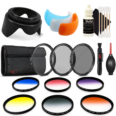 55mm Color Filters with Accessories for Nikon D3400 , D5300 and D5600