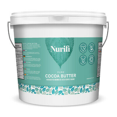 NURIFI COCOA BUTTER - 100% Unrefined Natural Raw & Pure - 100g, 200g, 500g, 1KG