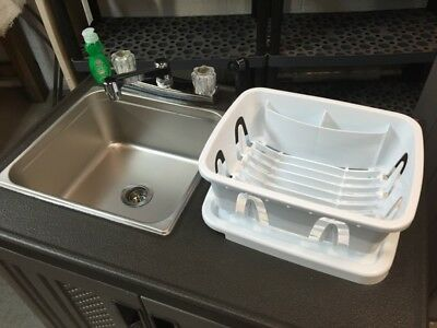Concession Hand Wash Sink Portable Food Self Contianed Mobile Cold Truck Trailer