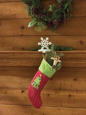 "Homemade Holiday Stocking 22"" L x 9"" W"