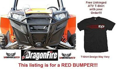 RED! Dragonfire RacePace Front Bash Bumper for RZR 570, 800, 900 & Free T-Shirt