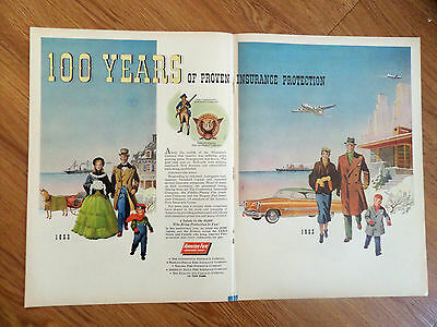 1953 America Fore Insurance Group Ad 100 Years 1953 Life Savers Candy Ad