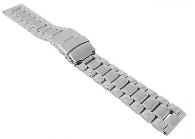 Wrist Watch Band Stainless Steel Solid with Security Deploying Clasp 29924