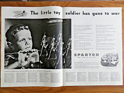1943 Sparton TV Television & Radios Ad WW II Themes Little Boy Has Gone to War