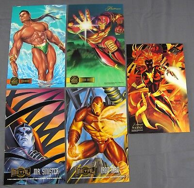 "5x Marvel Annual & Metal 6.5x10"" Prints Namor Phoenix Mr Sinister Iron Man (2)"