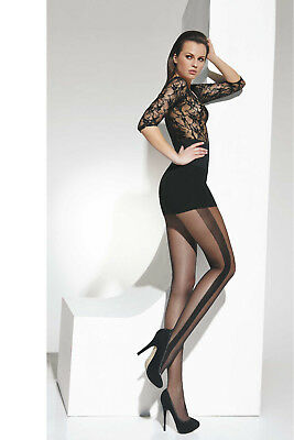9e1d34fc70060 Sexy Black Embroided Side Stripe Seamed women evening party Tights Hosiery  T97
