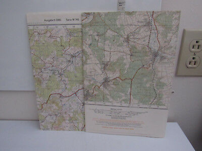 2 Vintage Maps Of Germany