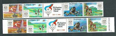 Philippines - Mail 1988 Yvert 1623/28 serrated and without perforated Mnh Sports