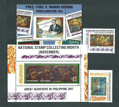 Philippines - Mail 1995 Yvert 2197/200+H.94/5 Mnh Paintings