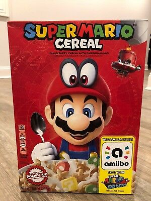 Super Mario Bros Cereal Limited Collectors Edition Nintendo Amiibo *ships Today*