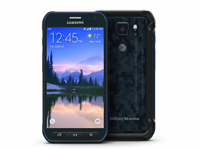 New Samsung Galaxy S6 Active G890A AT&T Unlocked 4G 32GB Android Smartphone Blue