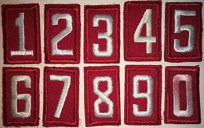 Boy Scout Of America Embroidered Red Troop Numbers Used