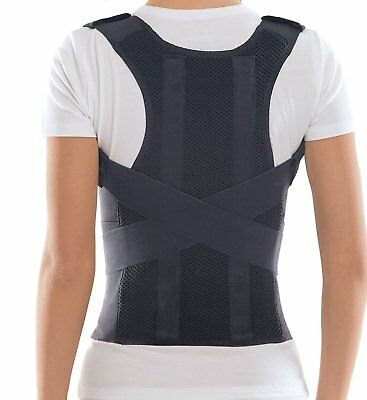 Comfort Posture Corrector and Back Support Brace / 100%-Cotton Liner - Small, 71