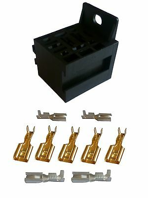 STANDARD (mini) Relay BASE for 4, 5 or 9 pin relays - Supplied with Terminals