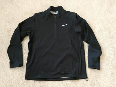 d79feb570c7a Nike Mens Golf Jacket Hyperadapt Storm Fit Black Large 1 2 Zip Waterproof   275
