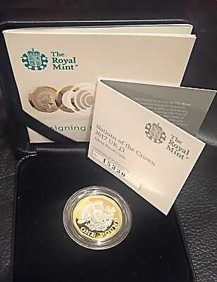 2017 £1 One Pound Silver Proof coin Nations of the Crown UK NEW gold LAST ONE