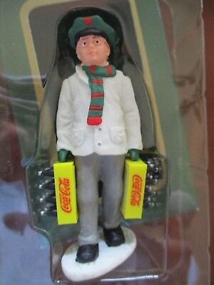 """Coca Cola Town Square Collection ~  """"Stocking Up"""" Delivery Man ~ 1992 ~ NIB"""