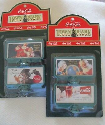 "Coca Cola Town Square Collection ~  ""Billboards"" ~ 2 Packages of 2 Each ~ NInPkg"
