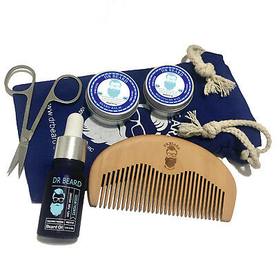 Dr Beard Grooming Kit- Moustache Wax, Beard Balm, Oil, Comb, Scissors & Gift Bag