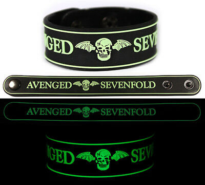 Avenged Sevenfold Rubber Bracelet Wristband glow in the dark