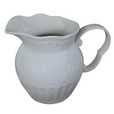 Jug Pearl White Milk Jug French Country Or Shabby Chic