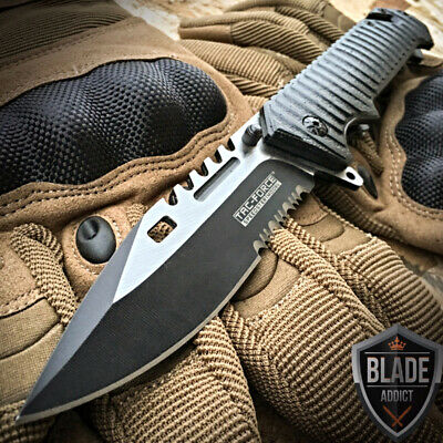 "8"" Military Assisted Spring Tactical Rescue Pocket Hunting Folding OPEN Knife"