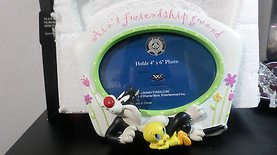 """Looney Tunes Westland Sylvester & Tweety Picture Frame-""""Ain't Friendship Grand"""""""