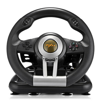 PXN V3II Racing Game Steering Wheel with Brake Pedal For PS3 PS4 and Xbox One