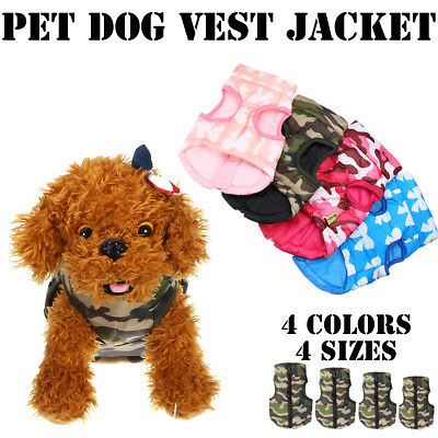 Pet Dog Puppy Cotton Padded Vest Coat Winter Warmer Clothes Waterproof Windproof