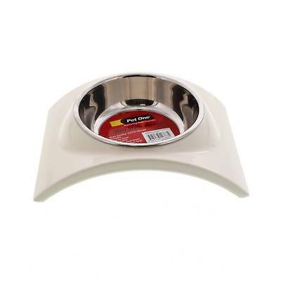 Bowl Melamine Stainless Steel Slim Style Small White Pet One Non Slip Melamine