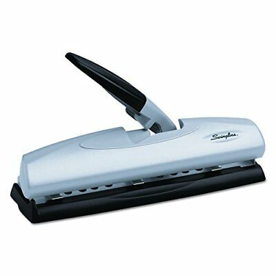 Swingline 3 Hole Punch Desktop Punches 2 7 LightTouch High Capacity 20 Sheets