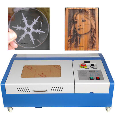 40W CO2 Laser Engraving Cutting Machine Engraver Cutter USB Port Wood Craft