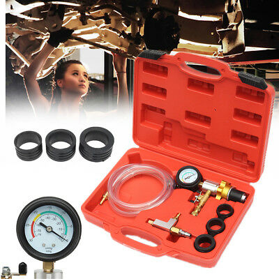 Auto Car Radiator Coolant Vacuum Cooling System Purging Refill Tool Gauge Kit