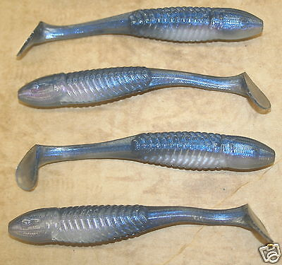 "5/"" Swim Minnow Shad Swimbait Trailer for A Rig 50 pack bulk Plastic Worm"