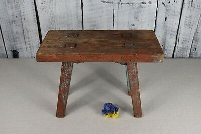 Antique wooden stool / Rustic wooden bench / Rustic wooden seat / Home decor