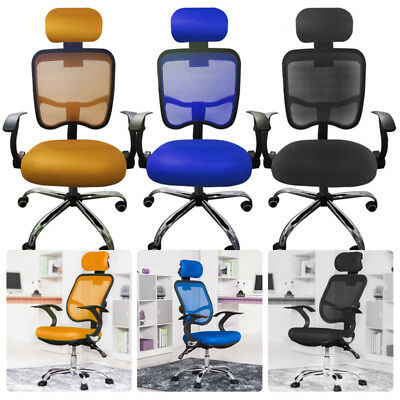 Office Chair Luxury Leather 360° Swivel High Reclining Computer Gaming Chairs