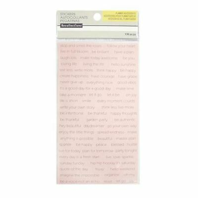 Recollections Planner Accessories - Sticker Sheet - 136pc - Black on Pink - 5015