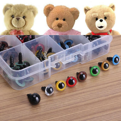 80x 8 Mixedcolor Plastic Safety Eyes Washers for Animal Toy Teddy Bear Doll