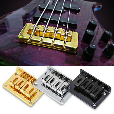 4-string Alloy Guitar Fixed Bridge for Cigarbox Electric Guitars Bass Ukulele