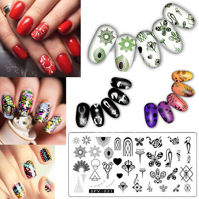DIY Nail Art Stamp Stamping Plates Manicure Template Nail Stamping Plates 2019